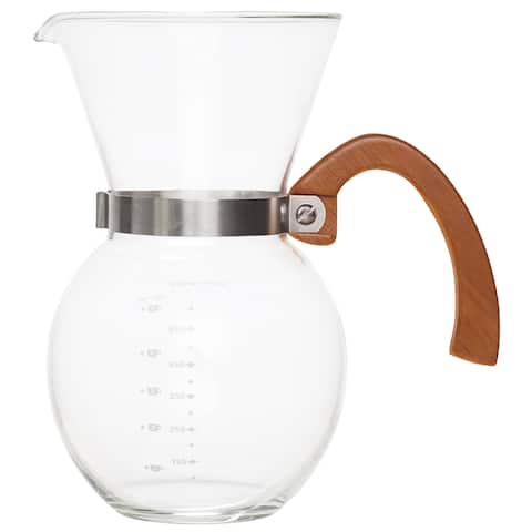 Harold Import 43781 Pour-Over Coffee Maker Set, Glass
