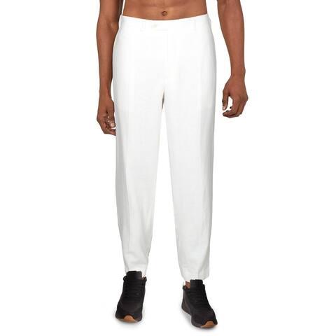 Sean John Mens Dress Pants Linen Blend Suit Separate - White