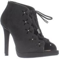 MICHAEL Michael Kors Thalia Lace-up Bootie Sandals, Black - 5 us / 35 eu