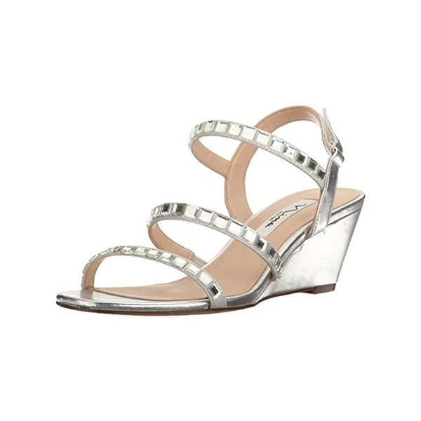 Nina Womens Naleigh Wedge Sandals Dress Open Toe