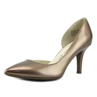 Anne Klein Womens Yolden Leather Pointed Toe D-orsay Pumps
