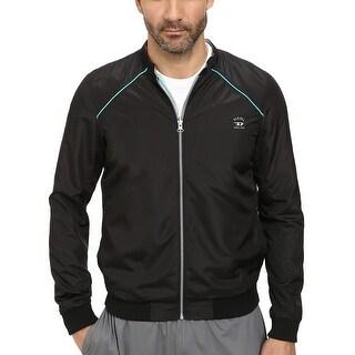 Diesel Roger 00SFLD Reversible Windbreaker Jacket Black and Turquoise Medium