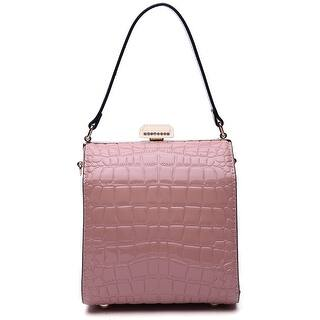 Style Strategy Croc Patent Leather Bag