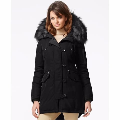 Michael Kors Womens Black Down Parka XS