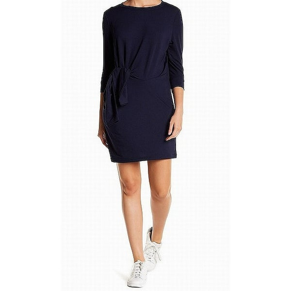 4a14058da5 Shop 525 America NEW Navy Blue Womens Size Small S Tie Front Sweater Dress  - On Sale - Free Shipping On Orders Over  45 - Overstock.com - 21550108