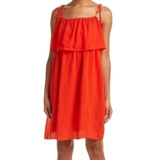 Laundry By Shelli Segal NEW Orange Women Size 8 Embroidered Shift Dress