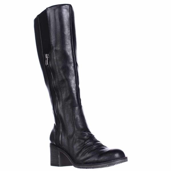 BareTraps Dallia Scrunch Toe Riding Boots, Black