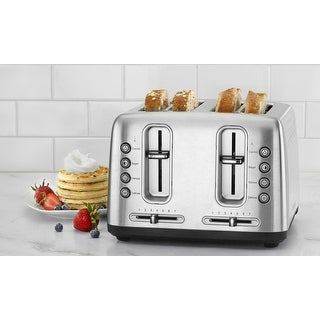 Cuisinart RBT-4900PCFR Stainless Steel 4-Slice Toaster with Shade Control, Brushed Stainless, Certified Refurbished