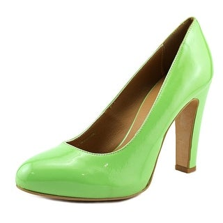 Nana Vernice Women Round Toe Patent Leather Green Heels