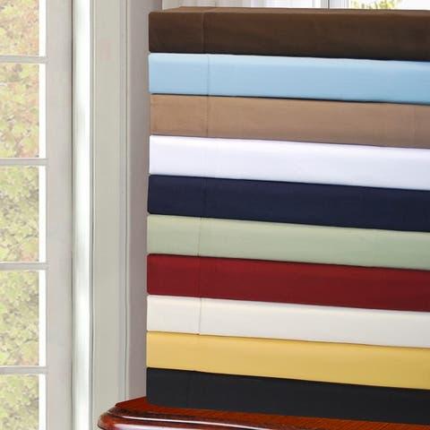 Miranda Haus Cotton Sateen 530-Thread Count Solid Duvet Cover Set