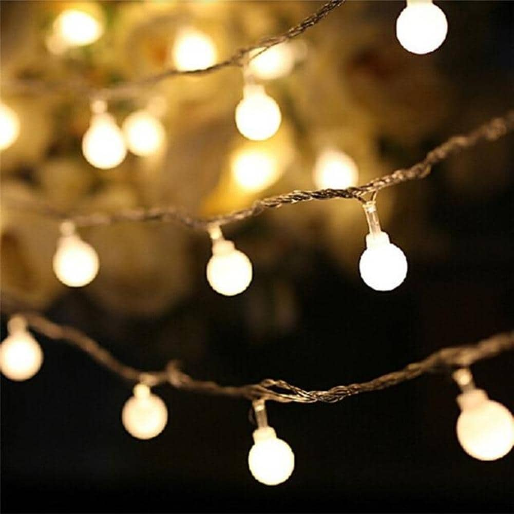 Cherry Balls Fairy String Decorative Lights Battery Operated Wedding  Christmas Outdoor Patio Garland Decoration Warm White - On Sale - Overstock  - 28814187
