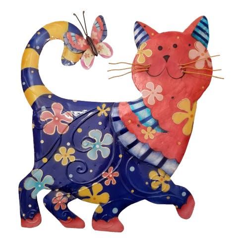 Handmade Blue and Red Cat (Philippines) - 1 x 12 x 13
