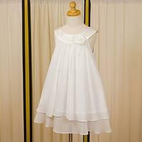 Kids Dream Little Girls Ivory Chiffon A Line Flower Girl Dress 2-14