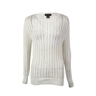 Karen Kane Women's Tape-Yarn Open-Knit Sweater - Off White