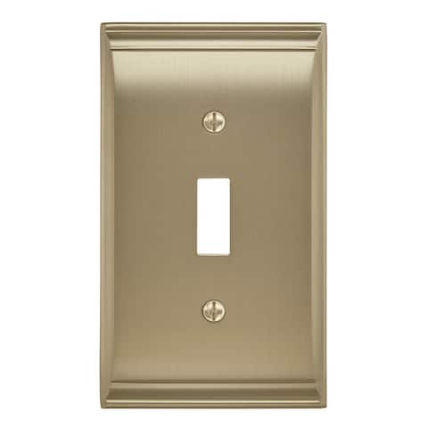 Candler 1 Toggle Golden Champagne Wall Plate - 1 Toggle
