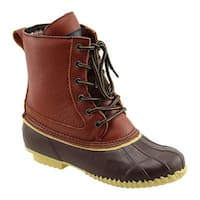 Superior Boot Co. Women's Traditional 6-Eye Duck Boot Brown