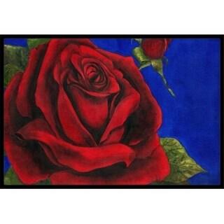 Carolines Treasures TMTR0226MAT Rose by Malenda Trick Indoor or Outdoor Mat 18 x 27