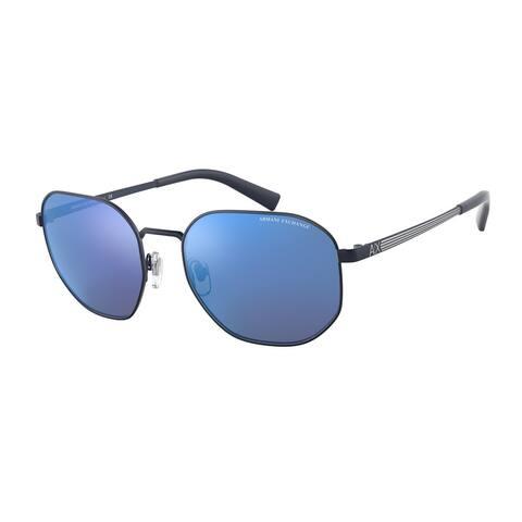 Armani Exchange AX2036S 609955 56 Matte Blue Man Pillow Sunglasses