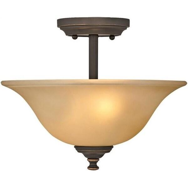 Boston Harbor LYB130928-2SF-VB Semiflush Ceiling Light Fixture, Venetian Bronze