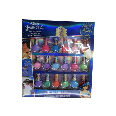 Disney Little Girls Multi Color Assorted Aladdin Peal-able Nail Polish Set - One Size