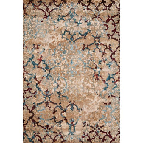 Westfield Home Cairo Alessia Distressed Area Rug