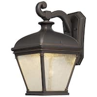 """The Great Outdoors 72393-143C 1 Light 15.75"""" Height LED Outdoor Wall Sconce from the Lauriston Manor Collection"""