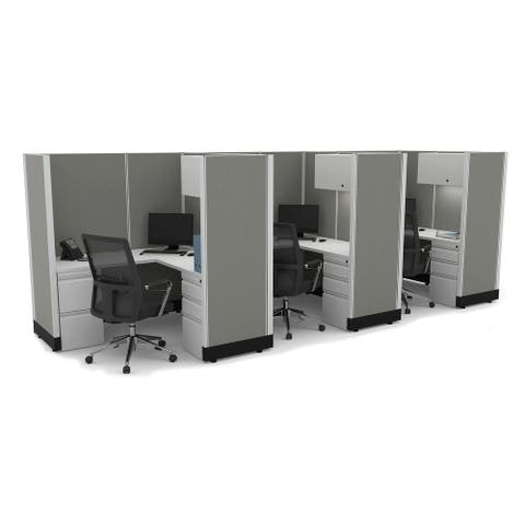 Modular Office Desk Furniture 67H 3pack Inline Unpowered