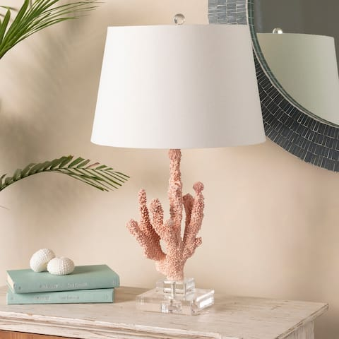 """Amrani 24 in. Coral Transitional Table Lamp - 24"""" H"""