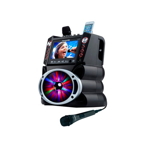 Karaoke USA All-in-One DVD/CDG/MP3G/Bluetooth/Media Player Karaoke System