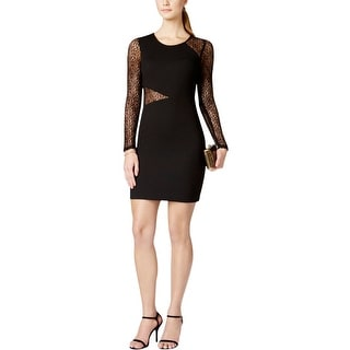 Guess Womens Cocktail Dress Textured Lace Trim - 12