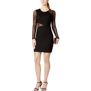 Guess Womens Cocktail Dress Textured Lace Trim