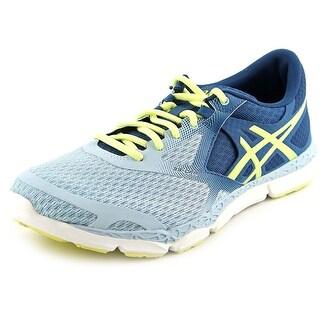 Asics 33-DFA Women Round Toe Canvas Blue Running Shoe