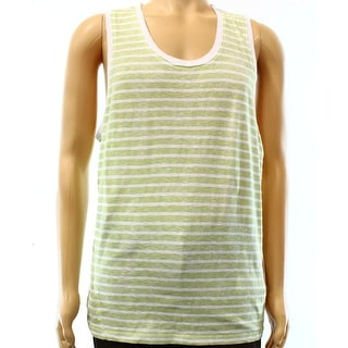 CALVIN KLEIN JEANS NEW Green Mens Medium M Stripe Muscle Tank Shirt