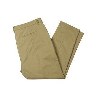 Rafaella Womens Plus Khaki Pants Comfort Waist Flat Front - 16W