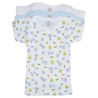 Bambini Baby Boys Multi Color Variety Short Sleeve Lap 3-Pack T-Shirts