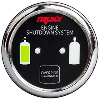 Xintex Deluxe Helm Display w/Gauge Body, LED & Color Graphics f/Engine Shutdown System - Chrome Bezel Display