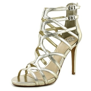 Vince Camuto Fantin Women Open Toe Leather Gold Platform Sandal