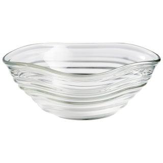 "Cyan Design 10022  Wavelet 13-1/4"" Diameter Glass Decorative Bowl - Clear"