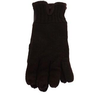 Isotoner Signature Men'S Black Smartdri Smartouch Gloves 1SZ