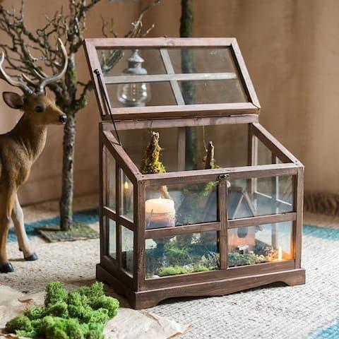 RusticReach Glass Wood Display Box