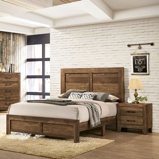 Link to Furniture of America Loa Transitional Rustic Walnut 2-piece Bedroom Set Similar Items in Bedroom Furniture