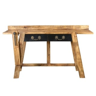 Moes Home Collection DR-1173 Kaleo 59 Inch Wide Mango Wood Work Table - Light brown