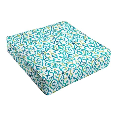 Blue Corded Indoor/ Outdoor Cushion
