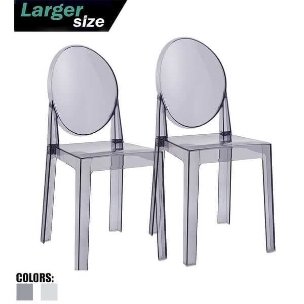Shop 2xhome Set of 2 Acrylic Chairs Side Plastic For Dining ...