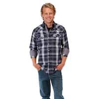 Roper Western Shirts Mens L/S Plaid Blue