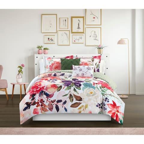 Chic Home Philena 5 Piece Floral Comforter Set
