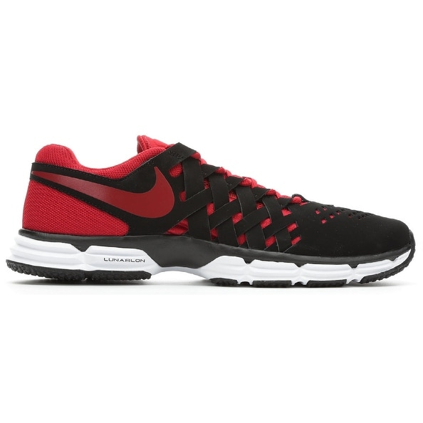 Nike Mens Nike Lunar Fingertrap Tr 4E, Black/Gym Red-White, 9 Wide Us - 9 wide us