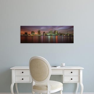 Easy Art Prints Panoramic Images's 'Buildings lit up at the waterfront, New Orleans, Louisiana, USA' Canvas Art