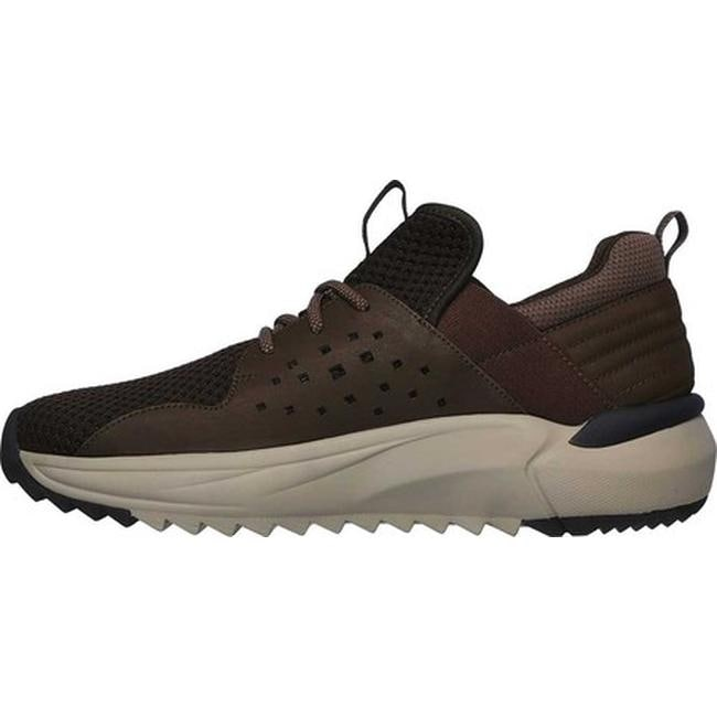 Skechers Men's Relaxed Fit Verlan Ronder Slip On Sneaker Brown