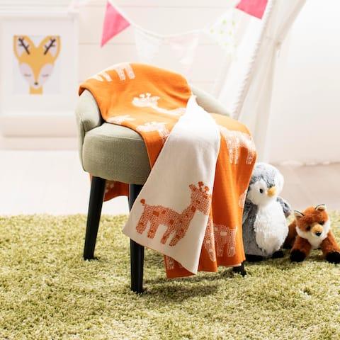 "SAFAVIEH Baby Collection Titan Throw - Orange - 32"" x 40"" - 32"" x 40"""